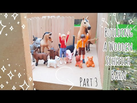 Building a Schleich Barn from Scratch! || Part 3 : Doors and Balcony || Schleich Horse DIY ||