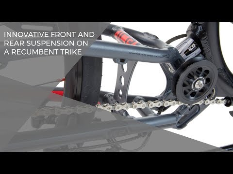 Innovative front and rear suspension on a recumbent trike