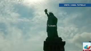 Así se ve el eclipse solar desde la Estatua de la Libertad en Nueva York, Estados Unidos.Visítanos también en:✩ FaceBook - http://bit.ly/2jZ5N6Z
