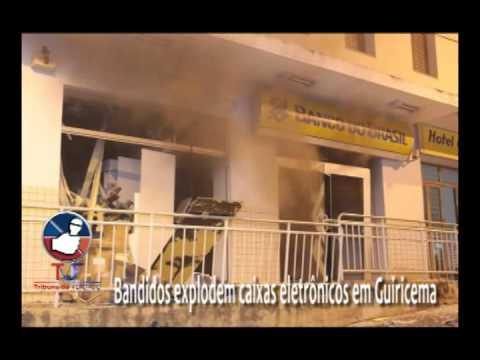 Bandidos explodem caixas eletrônicos em Guiricema