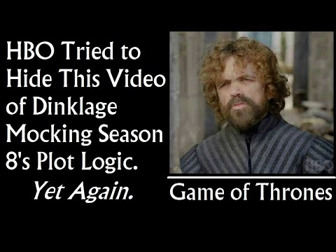 HBO Tried To Hide This Video Of Dinklage Mocking Season 8's Plot Logic. Again. (Game of Thrones)