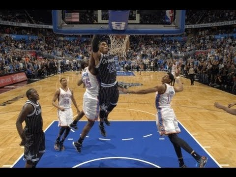 Thunder - Tobias Harris throws down a slam dunk at the buzzer to defeat the Oklahoma City Thunder. If this is your favorite,