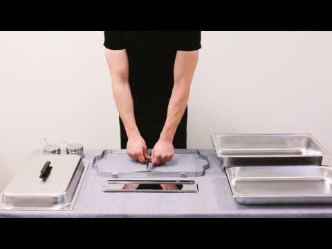 Folding Frame 8 Qt. Economy Full Size Stainless Steel Chafing Dish Assembly Video