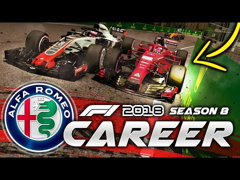 SQUEEZED INTO THE WALLS AT SINGAPORE! - F1 2018 Career Mode Part 162
