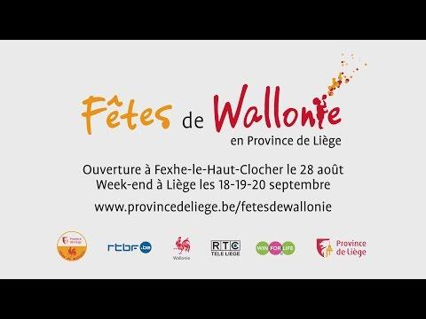 Les Fêtes de Wallonie en Province de Liège, à partir du 28 août 2015