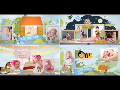 Happy Birthday Video – Hey, I'm Turning One!BAby photo Album  | Boy and Girl version