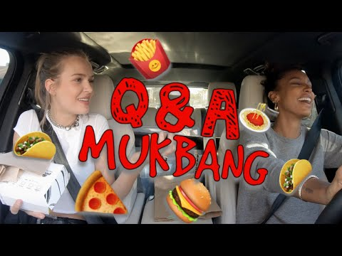 MUKBANG | Q&A | FAST FOOD with MODELS