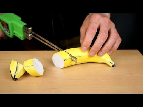 ASMR Styrofoam models vs thermal knife (oddly satisfying)