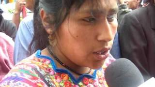 Manifestante De San Juan Sacatepéquez Guatemala