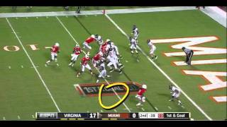 Chase Minnifield vs Miami 2011