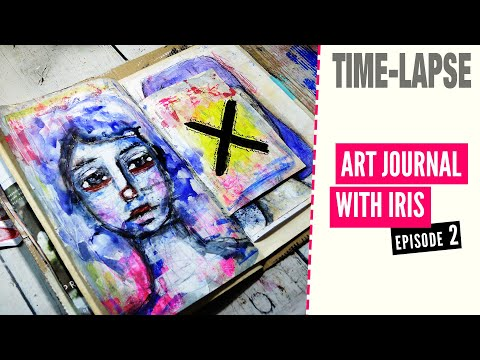 Crossed Out - ART JOURNAL WITH IRIS - ep2 (time-lapse with music, no talking)