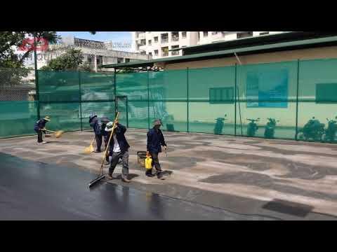Quy trình sơn mặt sân tennis: lớp sơn lót Acrylic Resufrace - USA