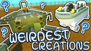 Scrap Mechanic CREATIONS! - WEIRDEST CREATIONS!! [#29] W/AshDubh | Gameplay |