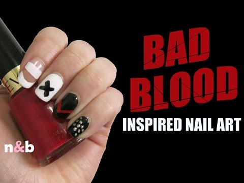 bad blood nail art - taylor swift