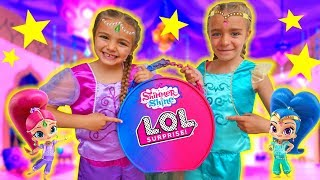 LOL BIG SURPRISE GIANT BALL SHIMMER AND SHINE!! Las Ratitas