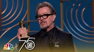 Video Gary Oldman Wins Best Actor in a Drama at the 2018 Golden Globes MP3, 3GP, MP4, WEBM, AVI, FLV Februari 2018