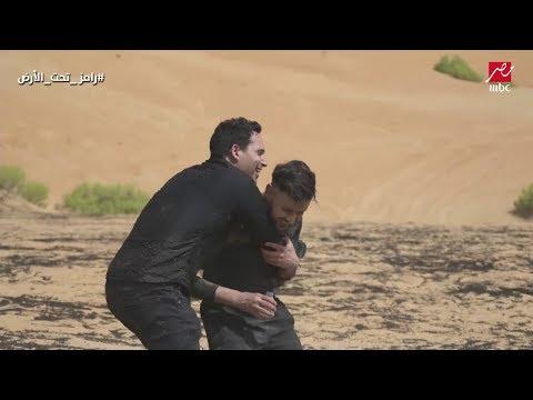 ظافر عابدين يضرب رامز جلال بعد اكتشافه المقلب وطاقم البرنامج يتدخل