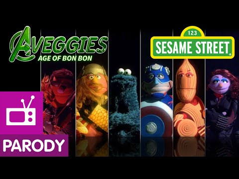Sesame Street The Aveggies Age of Bon Bon Avengers