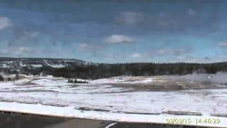 Mar 3, 2015 Upper Geyser Basin Daytime Streaming Camera Captures