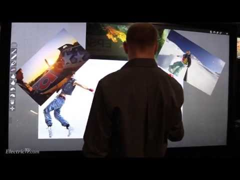 Multi-Touch 84-Inch Christie QuadHD84 LCD Display @ Siggraph 2013 (видео)