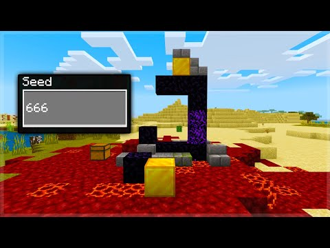Minecraft's CURSED 666 Seed Now Has Ruined Portals At Spawn!