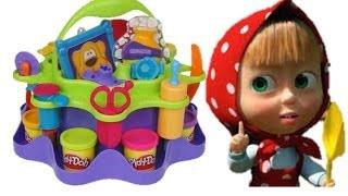 Маша и медведь Masha i medved Лунтик Play doh. Маша королева  Luntik Frozen toys Disney