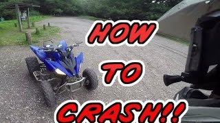 8. CRASHING My Friends Yamaha Raptor 250 Quad