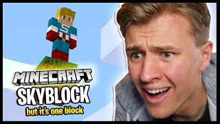 Starting Minecraft 1.16 Skyblock, But It's ONE BLOCK..