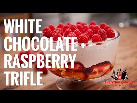 Cadbury White Chocolate and Raspberry Trifle | Everyday Gourmet S6 E85