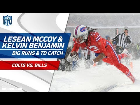 Video: LeSean McCoy's Amazing Runs in the Snow & Kelvin Benjamin's TD! | Colts vs. Bills | NFL Wk 14