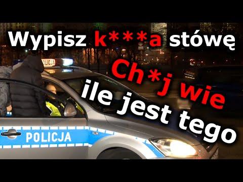 """""""A pisz k**wa ile tam chcesz!"""" Pijane Sebixy JP 100% kontra policjanci drogówki :D"""