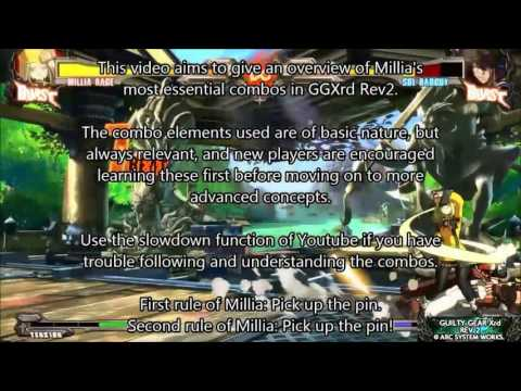 Guilty Gear Xrd Rev2 Millia Combos For Beginners