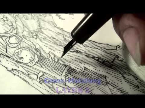 Pen and Ink Cross Hatching Masters Edition