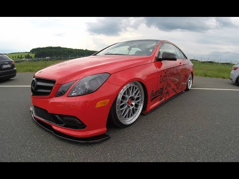 MERCEDES BENZ E-CLASS COUPE C207 ! RED COLOUR ! MBDESIGN WHEELS ! WALKAROUND ! LOWERED SHOWCAR !