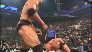 Brock Lesnar vs The Rock Summer Slam 2002.AVI