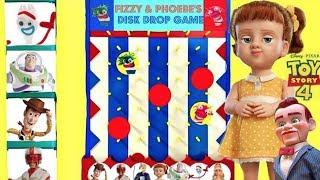 Toy Story 4 Gabby Gabby y Forky Juegan al Juego de los Discos de Fizzy y Phoebe