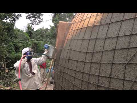 Monolithic Dome Construction with a Stucco Sprayer | Hildebrand Construction in Haiti