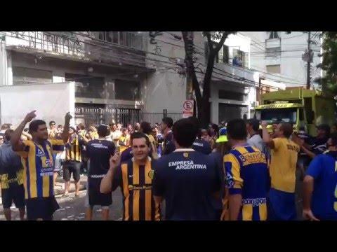 La hinchada de Central copando San Pablo - Los Guerreros - Rosario Central
