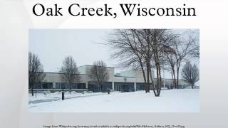 Oak Creek (WI) United States  City pictures : Oak Creek, Wisconsin