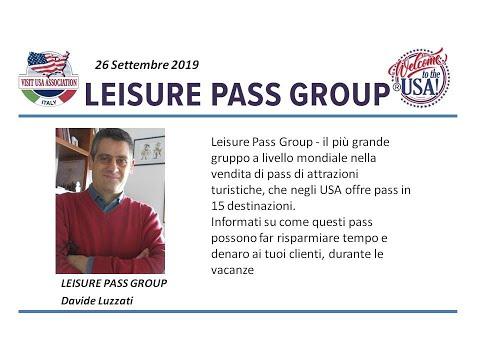 Video Leisure Pass Group che negli USA offre pass in 15 destinazioni. (26-9-2019)