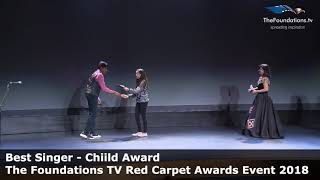 Lochan Karthikeyan wins The Foundations TV Best Singer Child