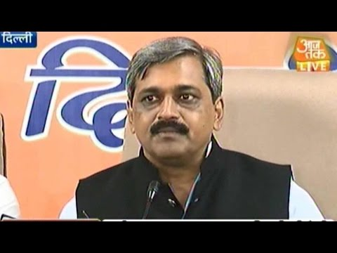 Delhi BJP chief Satish Upadhyay hits back at AAP chief Arvind Kejriwal