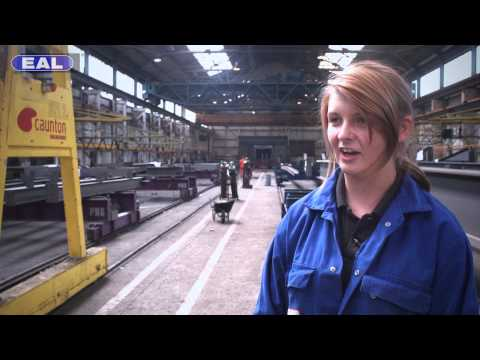 Caunton Engineering apprentice Natalie Harris stars in EAL's 'How to make it inudstry'