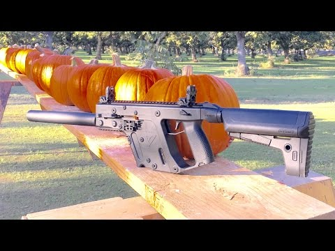 KRISS VECTOR VS PUMPKIN - 9MM VS 45 ACP