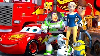 Video Disney Pixar CARS meet TOY STORY Lightning McQueen Buzz Lightyear & Woody ANIMATION SHORT MP3, 3GP, MP4, WEBM, AVI, FLV Oktober 2018