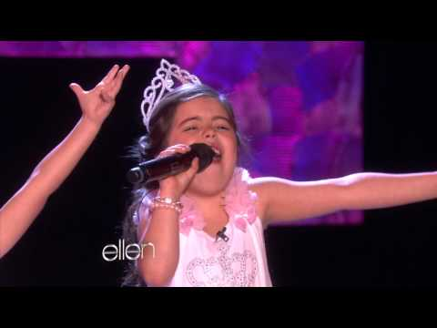sing - They're back! And this time, they performed another chart-topping hit. Sophia Grace and Rosie sang ³Rolling in the Deep.