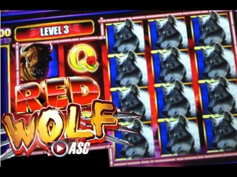 *NEW GAME* RED WOLF | Ainsworth - BIG WIN!! Slot Machine Bonus