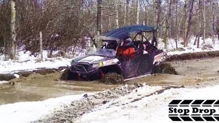 3. Polaris Ranger 4 Seater RZR 4 XP 900 Walker Evans Snow Mudding