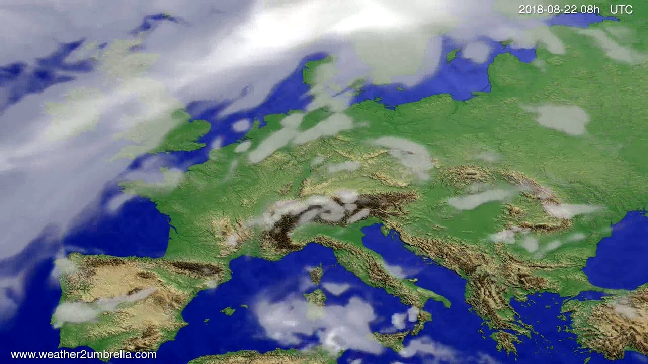 Cloud forecast Europe 2018-08-19