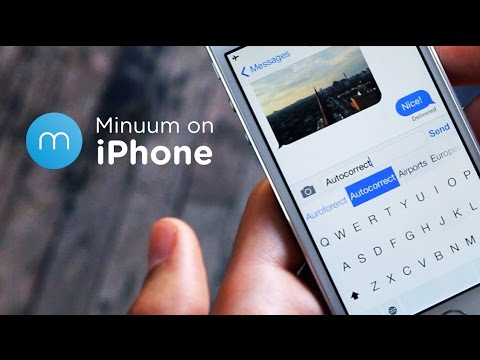 keyboard - Minuum, the little keyboard for big fingers, is finally available for iPhone! Watch this video for a quick glimpse at Minuum's best features. Download Minuum at https://itunes.apple.com/app/minuum-...